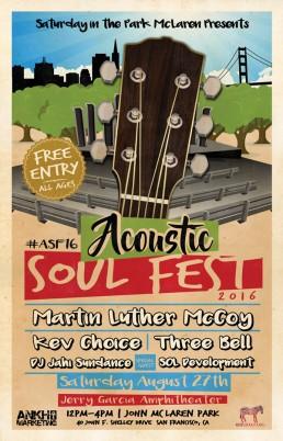 Acoustic Soul Fest 2016 Concert Flier