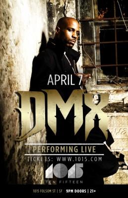 DMX Live at 1015 Flier