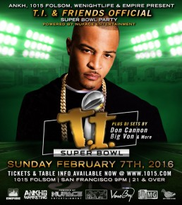 SuperBowl Party Flier Hosted by TI